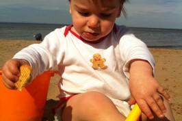 Leonardo on the beach