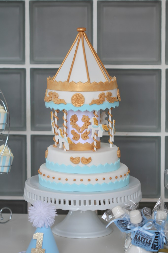 Tutorial For My Carousel Cake This Worked For Me