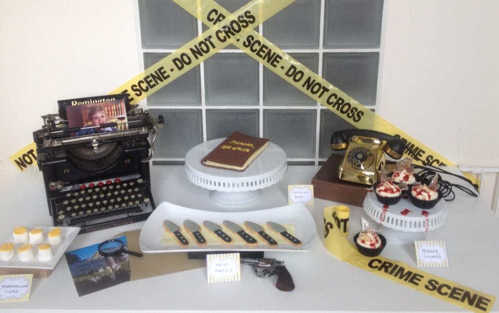 Murder she wrote dessert table