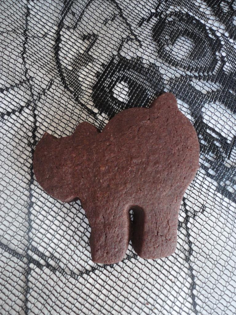 Chocolate halloween cookie
