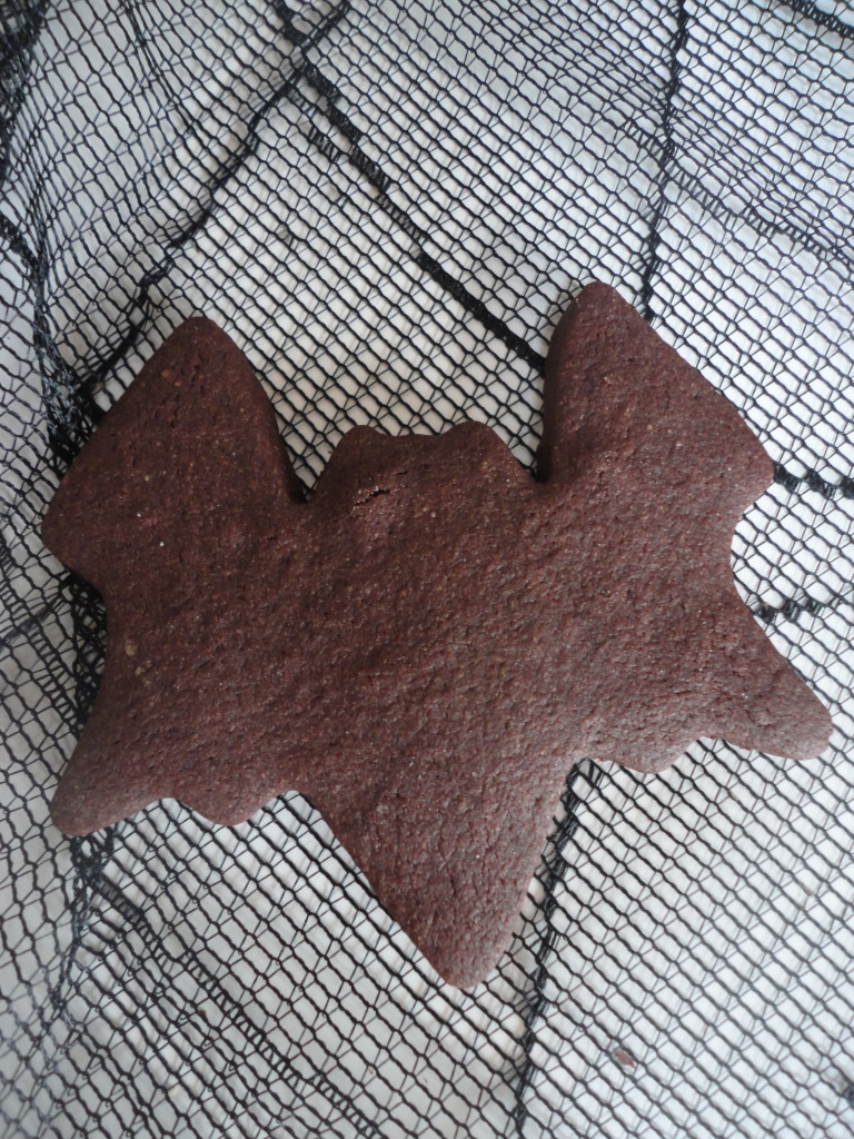 Chocolate bat halloween cookie