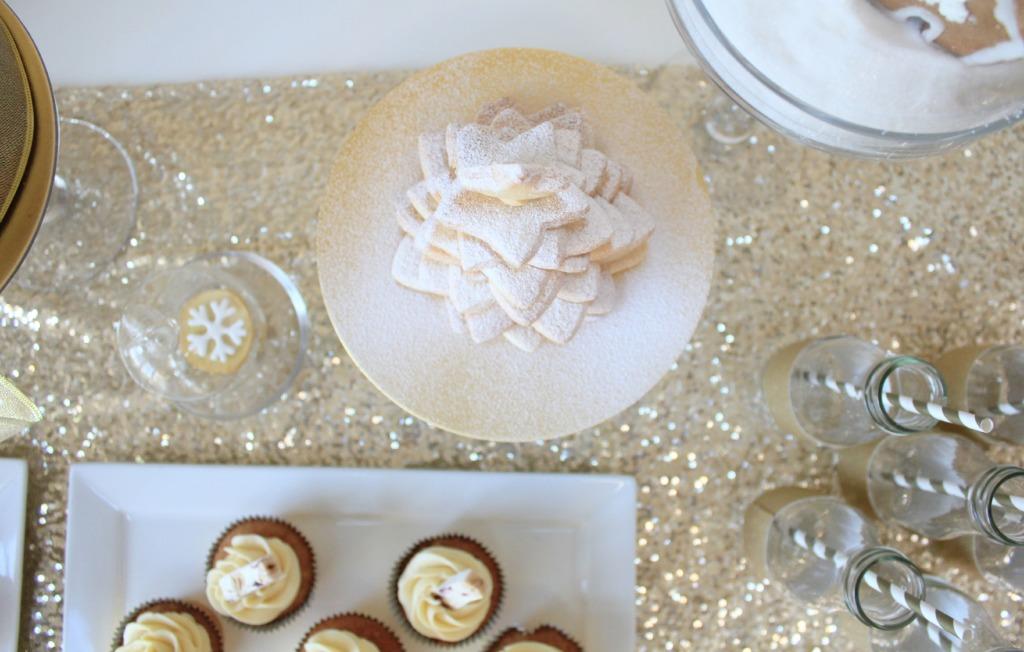 golden table for Christmas