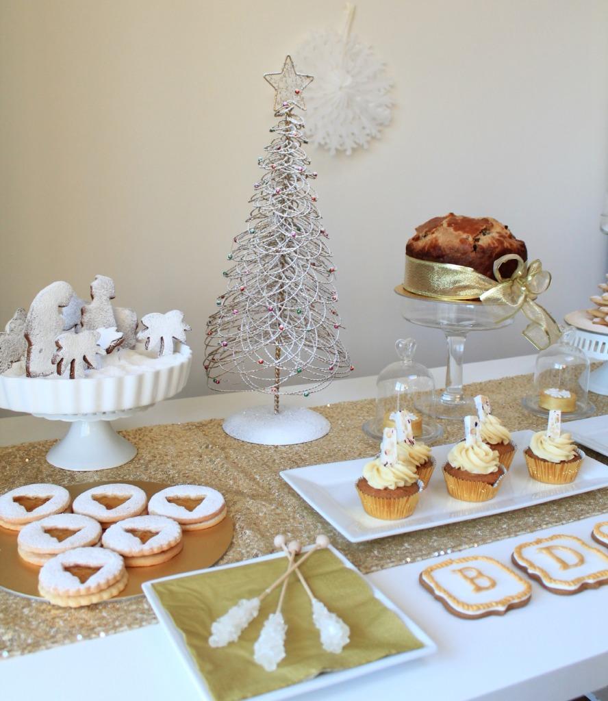 holiday dessert table