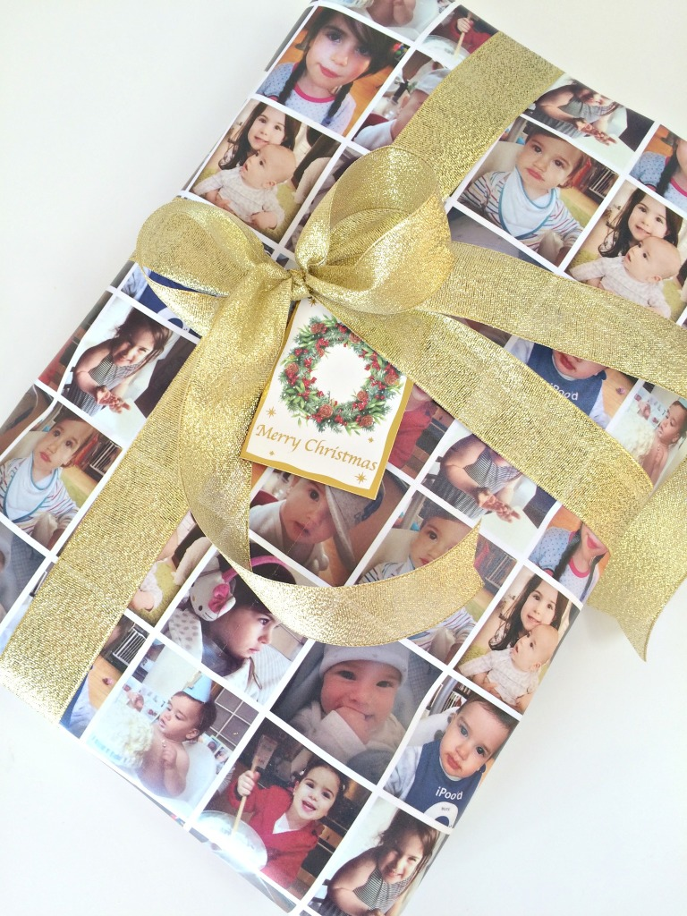 personalised wrapping paper for Christmas