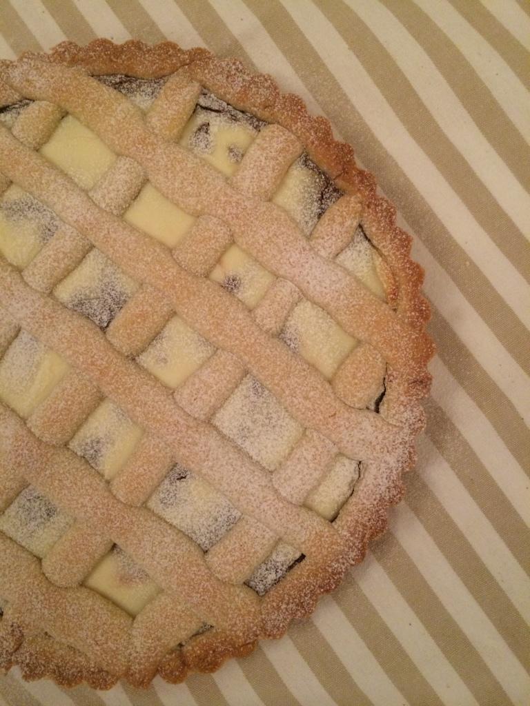 Ricotta and Nutella pie
