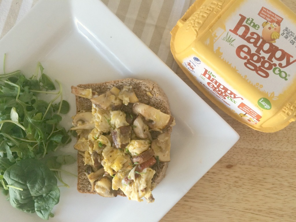 scrambled eggs with truffle oil