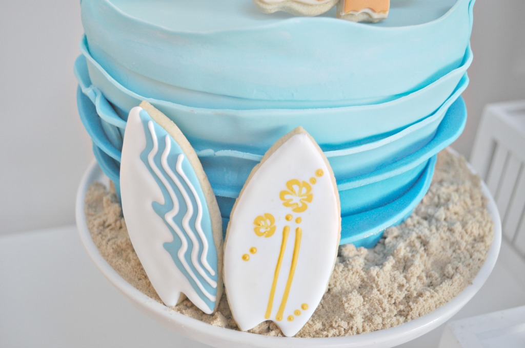 surfing board cookies