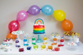 Pretty Rainbow cake tutorial