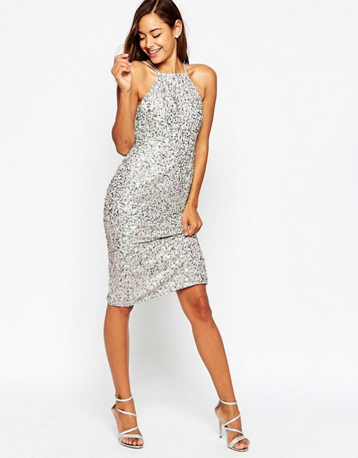silver-midi-dress